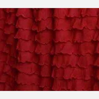 Polyester Ruffled Fabric