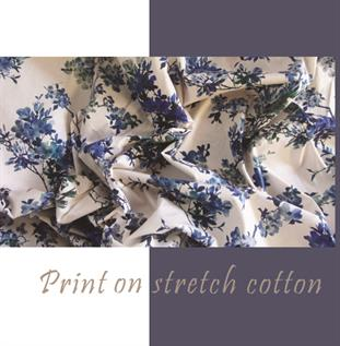 Cotton Stretch Blended Fabric