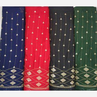 Rayon Zari Embroidery Fabric
