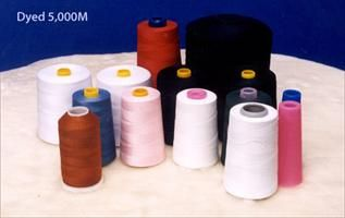 Dyed, For making sewing thread, 100% Polyester Spun