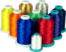 Dyed, Sewing thread / Embroidery purpose , 100% Polyester