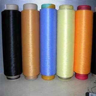 Dyed, For weaving, 100% Polyester