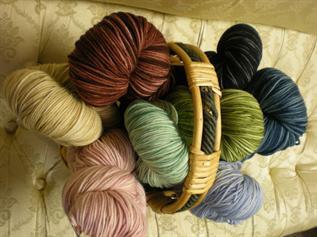 Dyed, for knitting, Nylon