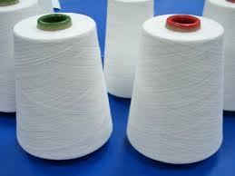 raw white, weaving and knitting, 30/1, 100% ring spun polyester