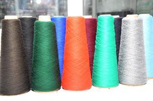 Raw White / Dyed,  For knitting, weaving, carpet making etc…., Nm 1/14, 2/14, 1/28, 2/28, 1/34, 2/34, 100% Acrylic