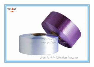 Polyester yarn for hand knitting