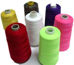 Dyed, For sewing thread, 1000, 840 or 500, 100% Polyester