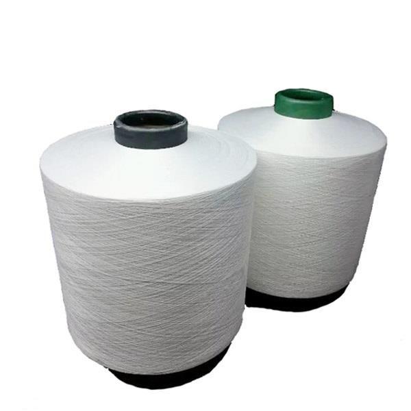 Raw White 100% Polyester Draw Textured Yarn