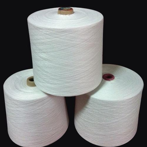 Raw White Cotton Polyester Yarn