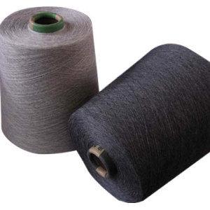 100% Recycle Polyester Black Spun Yarn.
