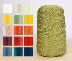 50% Viscose / 50% Bamboo Ring Spun Raw White Yarn