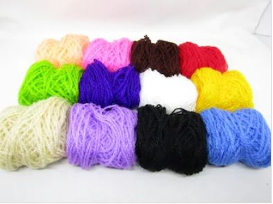 Unscoured Wool Hand Spun Yarn