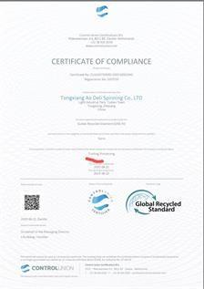 Polyester GRS Certified Yarn