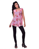 Ladies Chiffon Printed Tops