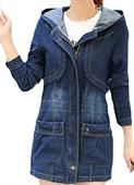 Denim Fabric Coat For Women