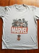 Casual Marvel Print T-shirt