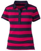 Women's Stripe Polo Shirt