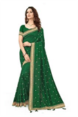 Multi Embroidery Work Sarees