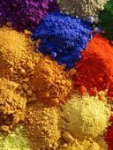 Cotton,Viscose,Linen and Rayon, Powder form, Yellow, Red, Orange, Blue, Green , Brown, Black Colors