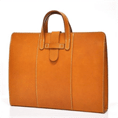 Leather briefcase-Leather products