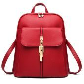 ladies pu leather backpack