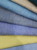 100% Linen Yarn Dyed Chambray Fabric