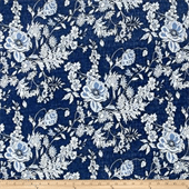 Knit Stretch Printed Denim Fabric