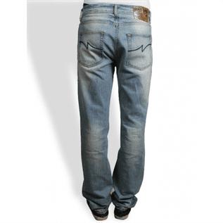 men stitched jeans