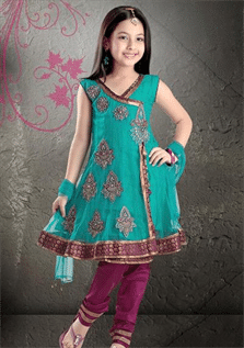100% Cotton, 50% Cotton / 50% Polyester, Chiffon, Georgette, Net , Age Group : 0-18 years