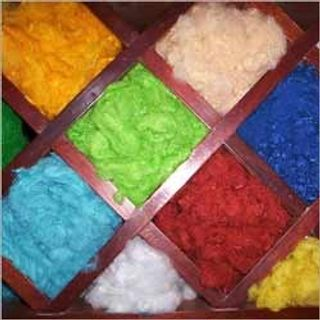 Dyed, Filament, - 4.05 +/-  0.06 denier %, One of the raw materials in the manufacture of Poyester Fibre Fill