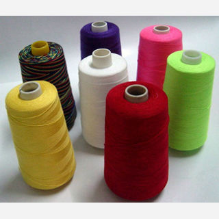 For garments, 50/2,40/2,20/2, 20/3, 100% Polyester