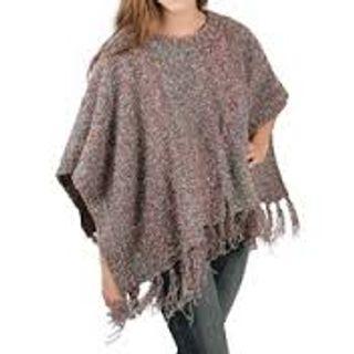 100% Polyester, Woman New Fashion Print Poncho 15AW0231