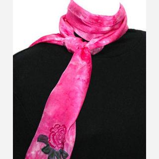 Silk, Viscose, Polyester, Red, Blue, Pink, Green