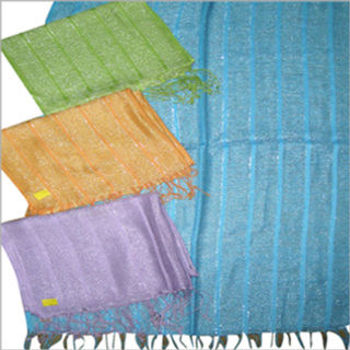 70% Cashmere / 30% Silk , Red, Green, Yellow, Orange etc.