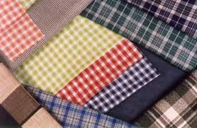 160-180 gsm, 100% Checks Woven Cotton, Greige & Dyed, Plain