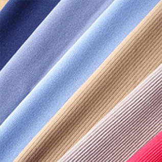 100 to 150 gsm, 97% Cotton / 3% Lycra , Dyed, Plain