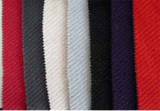 375-400 GSM, 60% Wool / 40% Acrylic, 70% Wool / 30% Silk, Dyed, Plain
