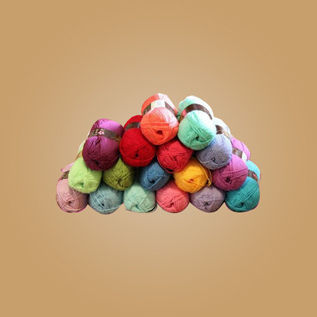Dyed/ Greige, Knitting, Weaving, 230 Nm, Acrylic
