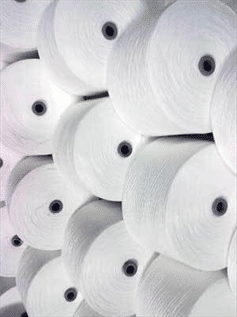 Greige and Optical White, For weaving and knitting, 40s-45s, 100% Cotton