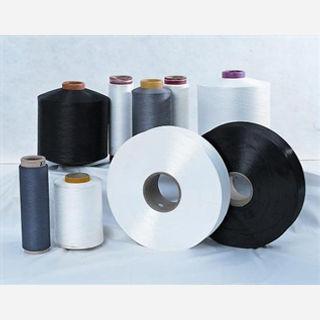 Dope Dyed (Black), For Weaving, 28/2 Ne, 100% Polyester Worsted Spun