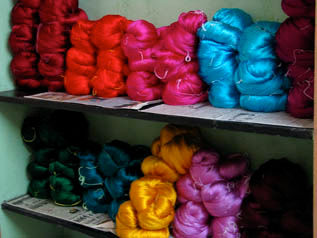 Greige & Dyed, For fabric weaving for ladies garment, 20/22D, 65% Silk / 35% Nylon