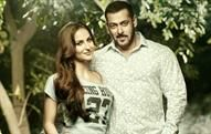 Salman Khan and Elli Avram showcasing SS16 collection. Courtesy: Being Human Clothing