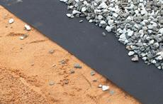 Geotextiles being used to repair national highway in Assam