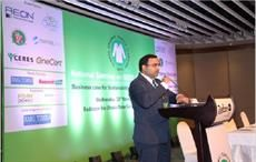 Sumit Gupta, GOTS representative for Indian and Bangladesh, speaking at the event.