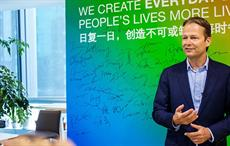 Ton Büchner speaking at an all employee town hall meeting in China. Courtesy: AkzoNobel