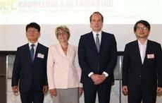 (L-R) Dong Chul Chung, Frederique Mutel, Fabien Penone, and Kisoo Kim; Courtesy: JEC Group