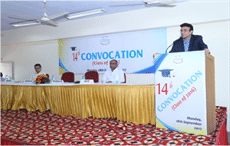 NITRA chairman Sanjay Kumar Jain speaking at the convocation; Courtesy: NITRA