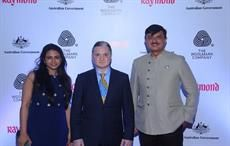 (L-R) Arti Gudal, Woolmark; Raymond CMD Gautam Singhania; Raymond CEO Sanjay Behl;Courtesy: Raymond