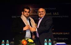 HKL Magu welcomes Amitabh Kant, CEO, NITI Aayog; Courtesy: AEPC