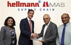 From left: Tania Polonnowita Wettimuny, MD, Hellmann Sri Lanka; Bart de Vries, Global COO Air & Sea Hellmann; Deshamanya Mahesh Amalean, Chairman, MAS Holdings; & Shirendra Lawrence, COO, MAS Holdings